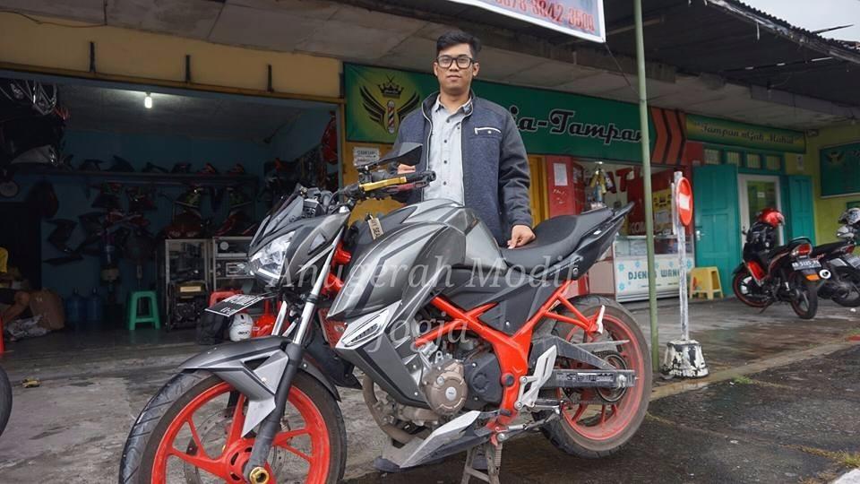 Modifikasi : Honda new CB150R ini disulap menjadi ala