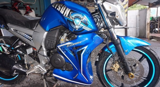 Jual Half Fairing Byson Blue Light