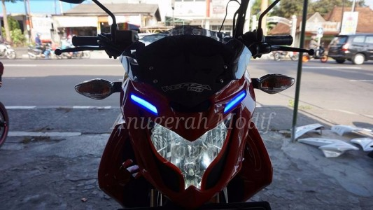 Cover Headlamp Verza + Lampu Alis Robot
